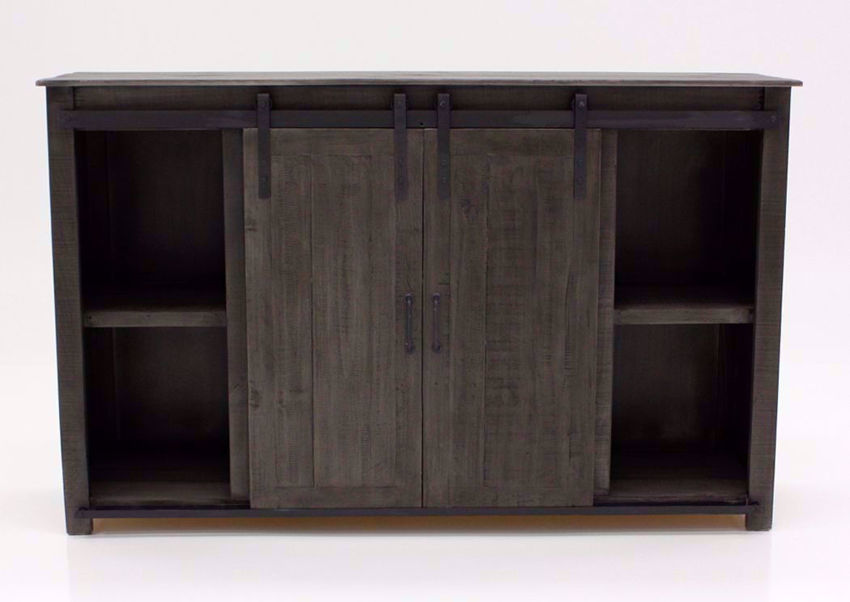 Distressed Gray Maverick TV Stand by Vintage Facing Front | Home Furniture Plus Mattress