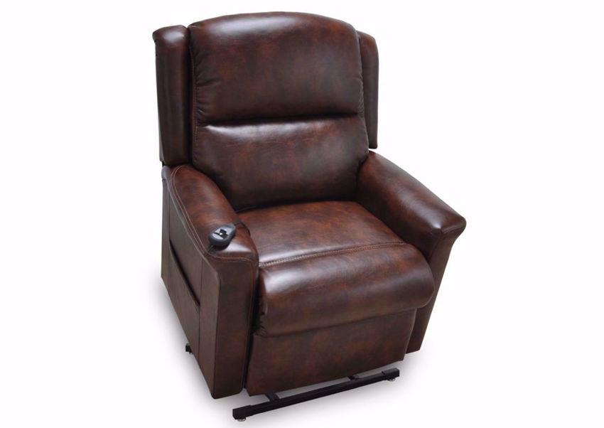 Province Lift Recliner with Dark Brow Upholstery | Home Furniture Plus Bedding