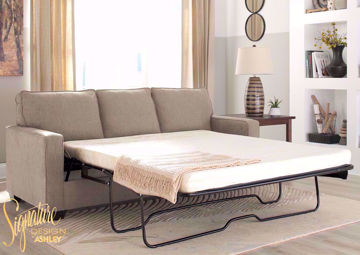 Beige Zeb Sleeper Sofa with Sofa Bed by Ashley Furniture Available in Queen Size  | Home Furniture Plus Bedding