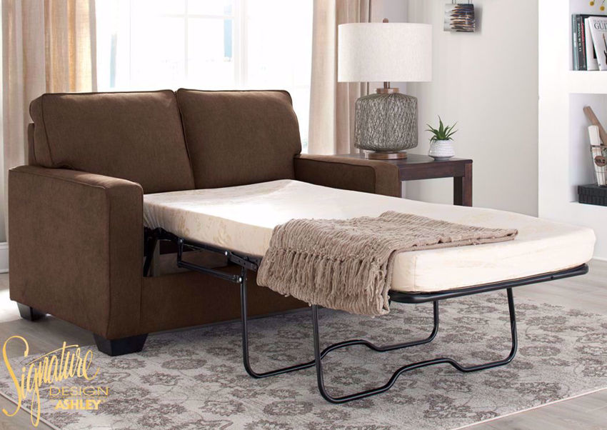 Zeb Sleeper Sofa Brown Twin Home
