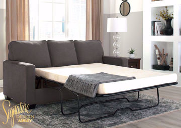 Gray Zeb Sleeper Sofa with Open Full Size Sofa Bed by Ashley Furniture | Home Furniture Plus Bedding