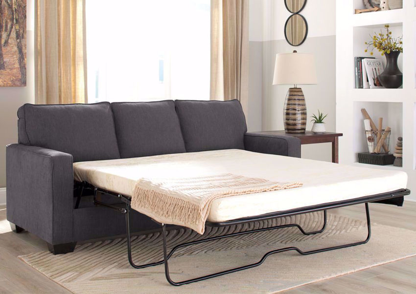 Gray Zeb Sleeper Sofa with Sofa Bed by Ashley Furniture Available in Queen Size  | Home Furniture Plus Bedding