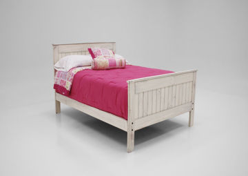 White Duncan Full Bed at an Angle | Home Furniture Plus Bedding