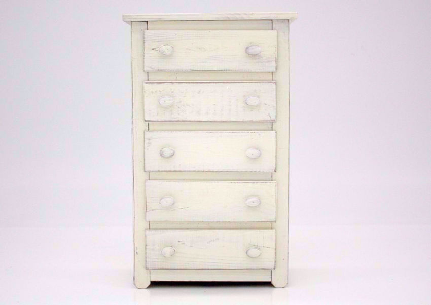 Distressed White Duncan Chest of Drawers Facing Front | Home Furniture Plus Mattress