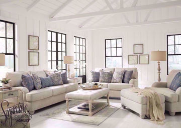 Off White Traemore Sofa Set by Ashley Furniture. Includes Sofa, Loveseat and Chair | Home Furniture + Mattress