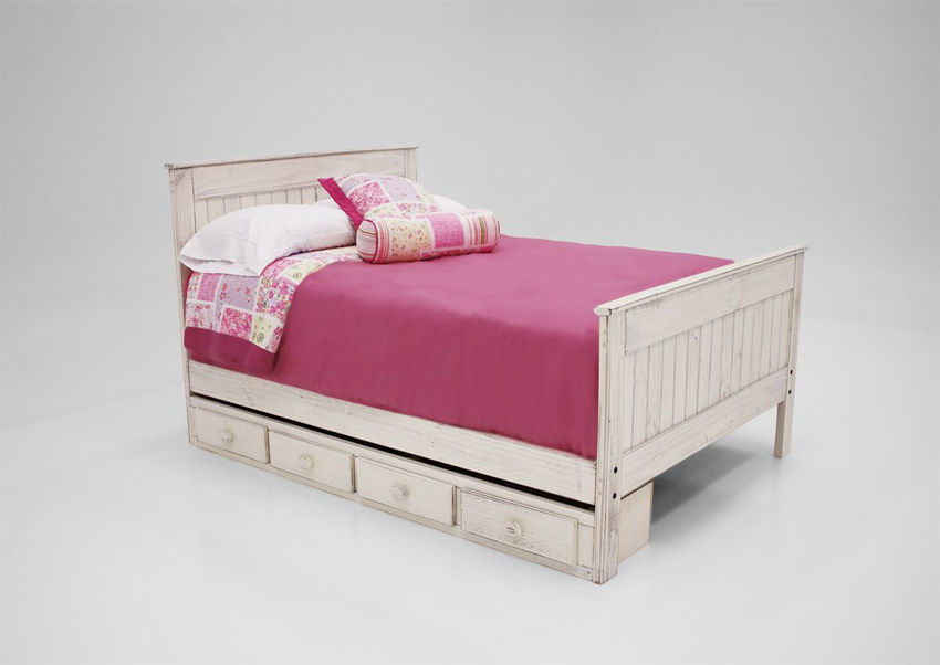 Picture of Duncan Full Bed With Storage Unit - White