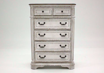 Antique White Stevenson Manor Chest of Drawers Facing Front | Home Furniture Plus Mattress
