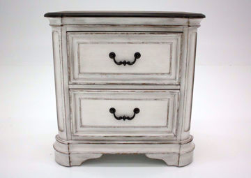 Stevenson Manor Nightstand, White, Front Facing | Home Furniture Plus Mattress
