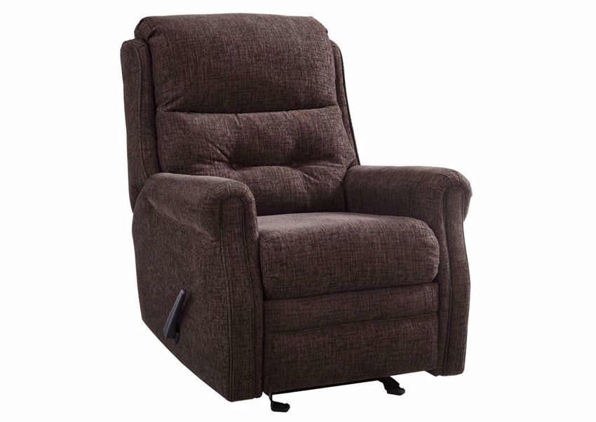 Penzberg Glider Recliner with Dark Brown Upholstery by Ashley Furniture | Home Furniture Plus Bedding