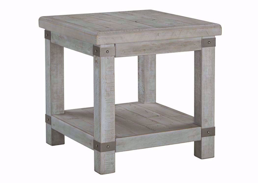 Light Gray Carynhurst End Table by Ashley Furniture | Home Furniture Plus Bedding