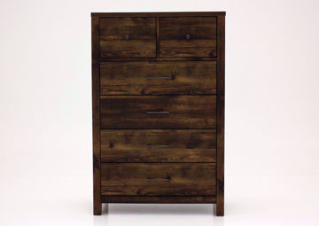 Dark Brown Cheyenne Chest of Drawers Facing Front | Home Furniture Plus Mattress