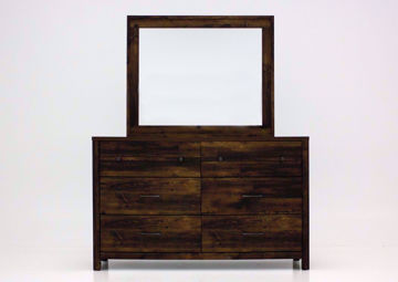 Cheyenne Dresser with Mirror, Dark Brown, Front Facing | Home Furniture Plus Mattress