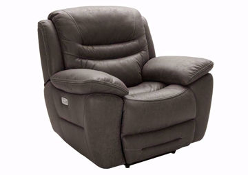 Brown Dakota POWER Recliner at an Angle | Home Furniture Plus Mattress