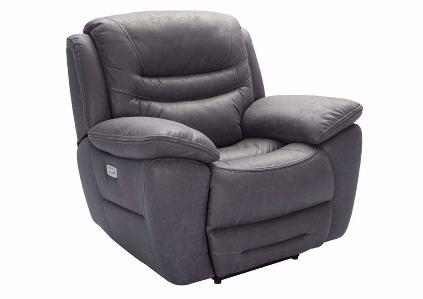 Gray Dakota POWER Recliner at an Angle | Home Furniture Plus Mattress