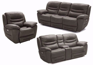 Chocolate Brown Power Reclining Sofa Set by K-Motion Includes Sofa, Loveseat and Recliner | Home Furniture + Mattress