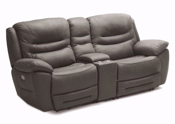 Dakota POWER Reclining Loveseat, Brown, Angle | Home Furniture Plus Mattress