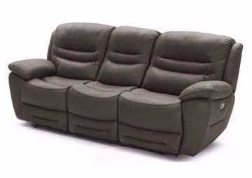 Dakota POWER Reclining Sofa, Brown, Angle | Home Furniture Plus Mattress