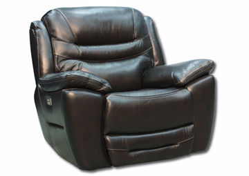 Dallas POWER Glider Recliner, Brown, Angle | Home Furniture Plus Mattress