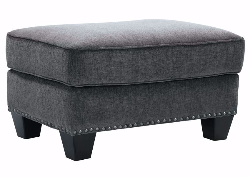 Gavril Ottoman by Ashley Furniture with Gray Upholstery | Home Furniture + Mattress