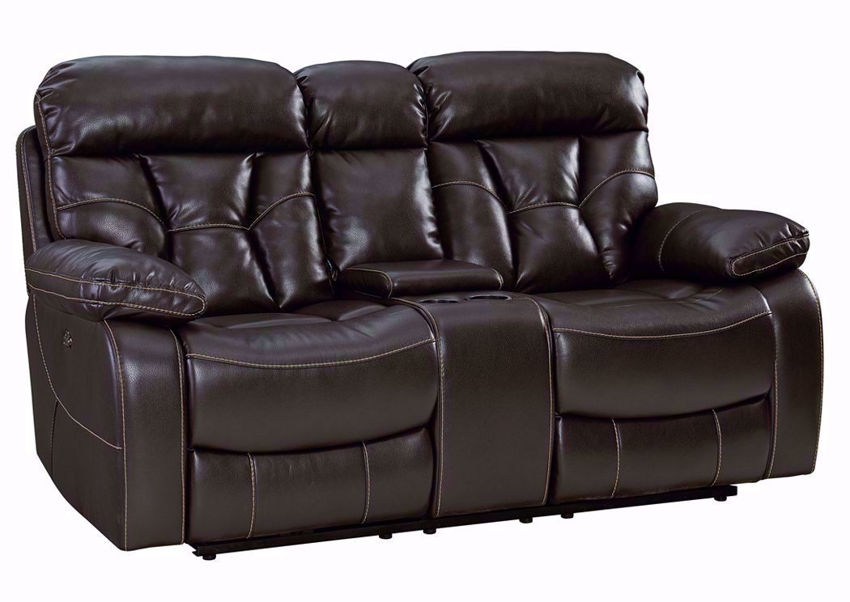 Java Brown Peoria Reclining Loveseat at an Angle   Home Furniture Plus Mattress