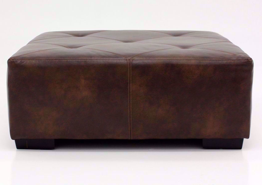 Brown Wesley Ottoman by Albany, Front Facing | Home Furniture Plus Bedding