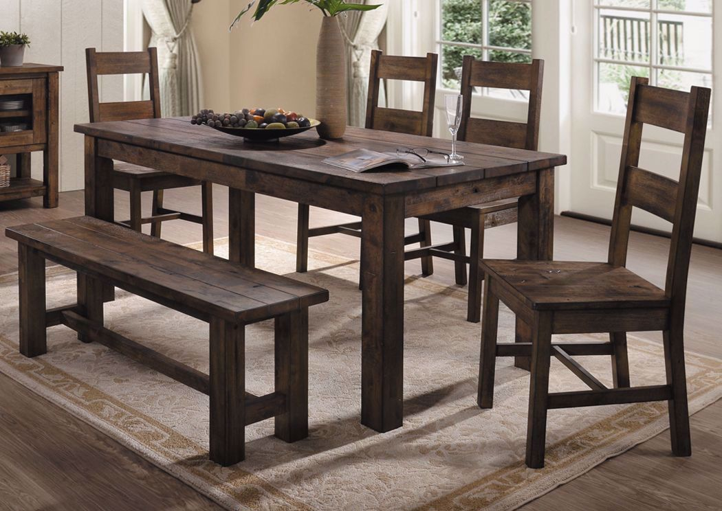Dining Table 4 Chairs Free Bench Brown, Dining Room Table With 4 Chairs And A Bench