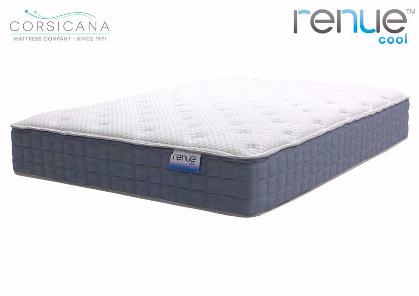 Slightly Angled View of the Twin Size Corsicana Renue Cool Firm Mattress | Home Furniture Plus Bedding