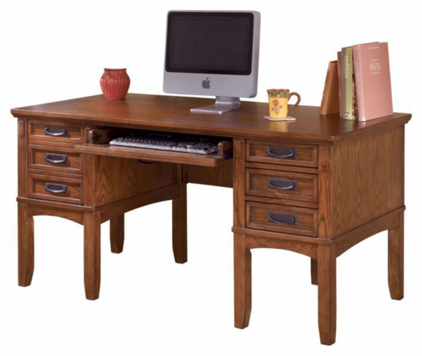 Cut Out of the Cross Island Home Office Desk by Ashley Furniture