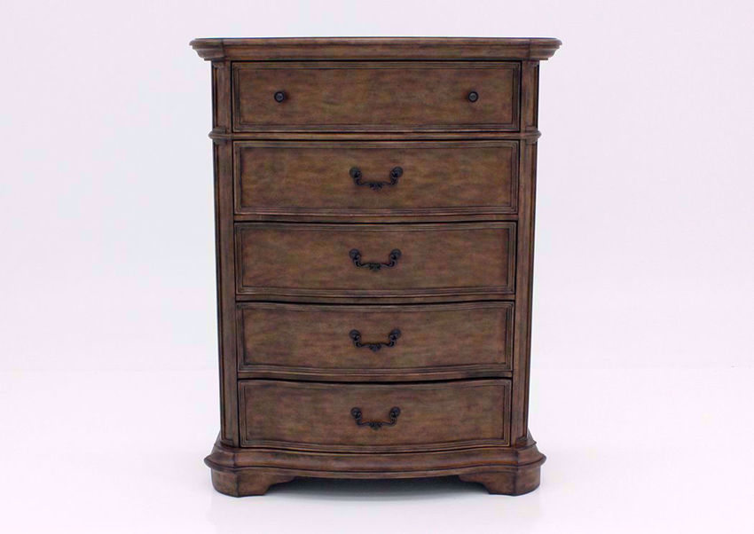 Light Brown Tulsa Chest of Drawers Facing Front | Home Furniture Plus Mattress