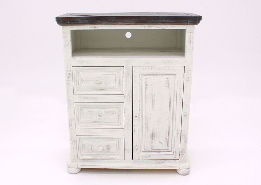 Allie TV Stand, White, Front Facing   Home Furniture Plus Bedding