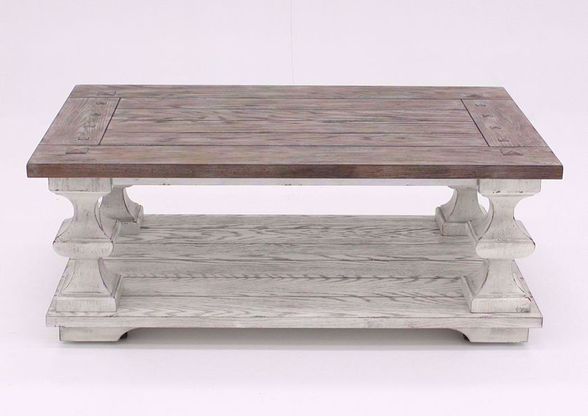 White and Brown Sedona Coffee Table Facing Front | Home Furniture Plus Mattress