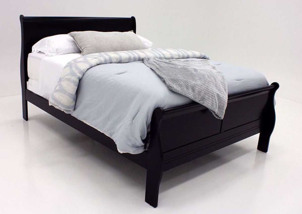 Louis Philippe Full Size Bed Black Home Furniture Plus Bedding
