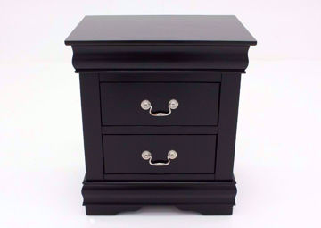 Louis Philippe Nightstand, Black, Front Facing | Home Furniture Plus Bedding