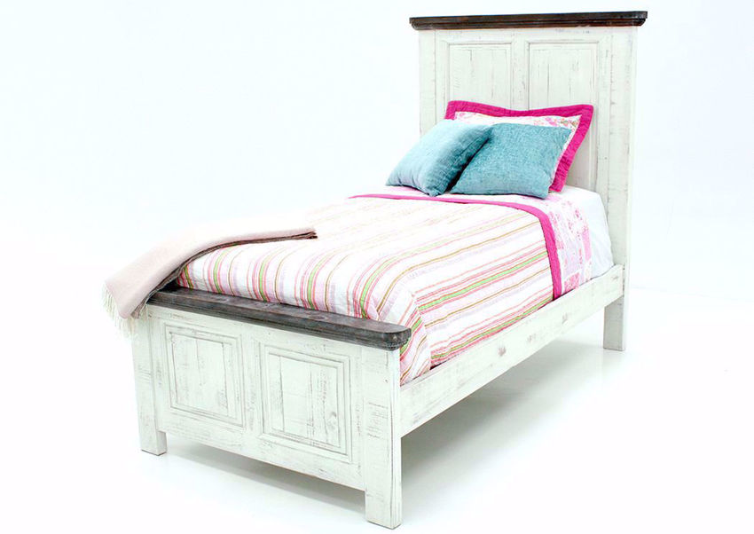 Allie Twin Size Bed White