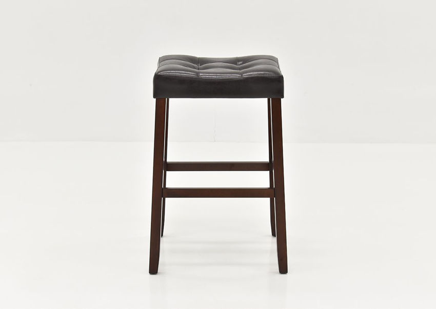Front View of the Belmar 30-Inch Barstool in Dark Brown by Crown Mark International | Home Furniture Plus Bedding
