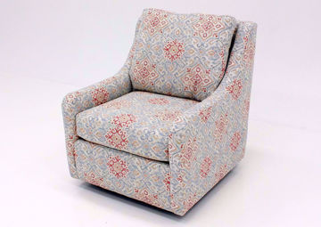 Becca Swivel Glider Chair, Multi-Color, Angle | Home Furniture Plus Bedding