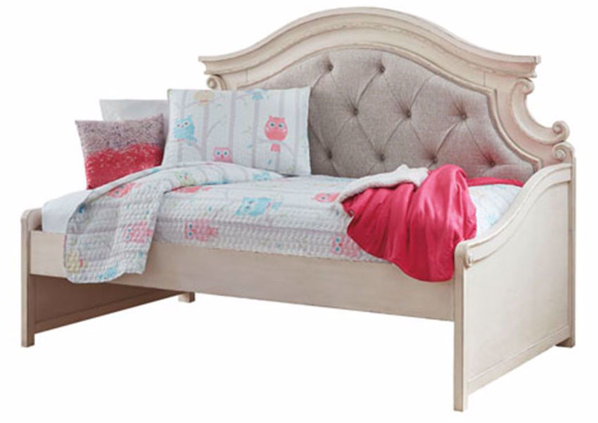 Picture of Realyn Upholstered Day Bed - White - Twin Size