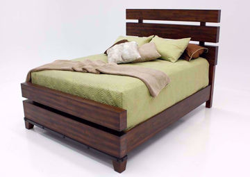 Silo King Size Bed, Dark Brown, Angle | Home Furniture Plus Bedding