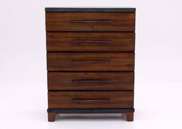 Warm Brown Silo Chest of Drawers Facing Front | Home Furniture Plus Bedding