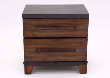 Warm Brown Silo Nightstand Facing Front | Home Furniture Plus Mattress