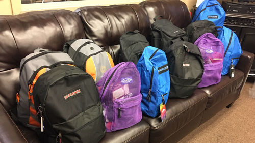With the Help of a Once Homeless Man, Home Furniture Collects Backpacks for Homeless