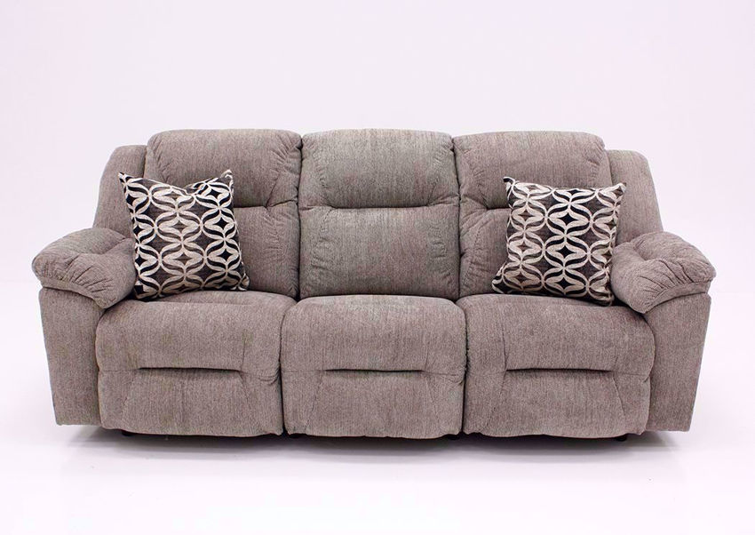 Donnelly Reclining Sofa, Tan, Front Facing | Home Furniture Plus Bedding