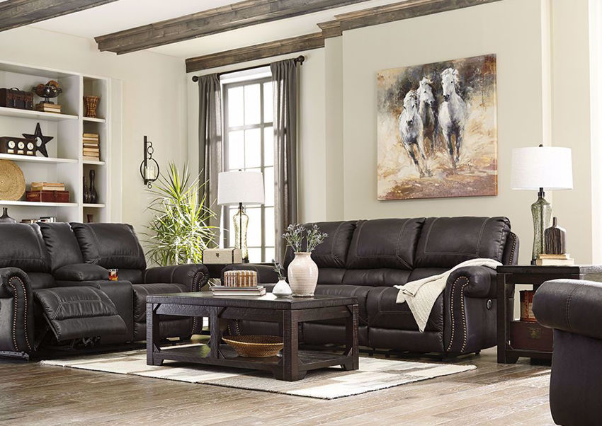 Picture of Milhaven Reclining Sofa Set - Black