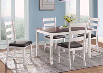 Off White Two-Tone Martin Dining Table Set in a Room Setting | Home Furniture Plus Mattress