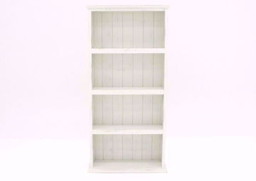 Antique White Vintage Bookcase Facing Front | Home Furniture Plus Mattress