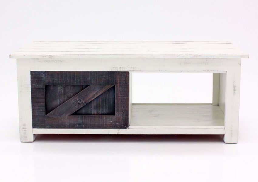 White and Ash Brown Midland Coffee Table Facing Front | Home Furniture Plus Mattress