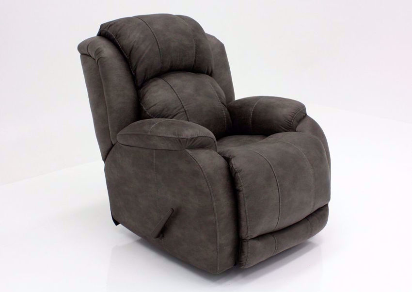 Denali Recliner with Steel Gray Microfiber Upholstery by HomeStretch | Home Furniture + Mattress