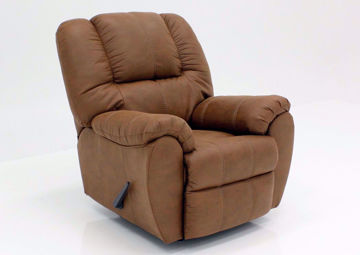 Saddle Brown McGann Rocker Recliner by Ashley Furniture | Home Furniture Plus Bedding