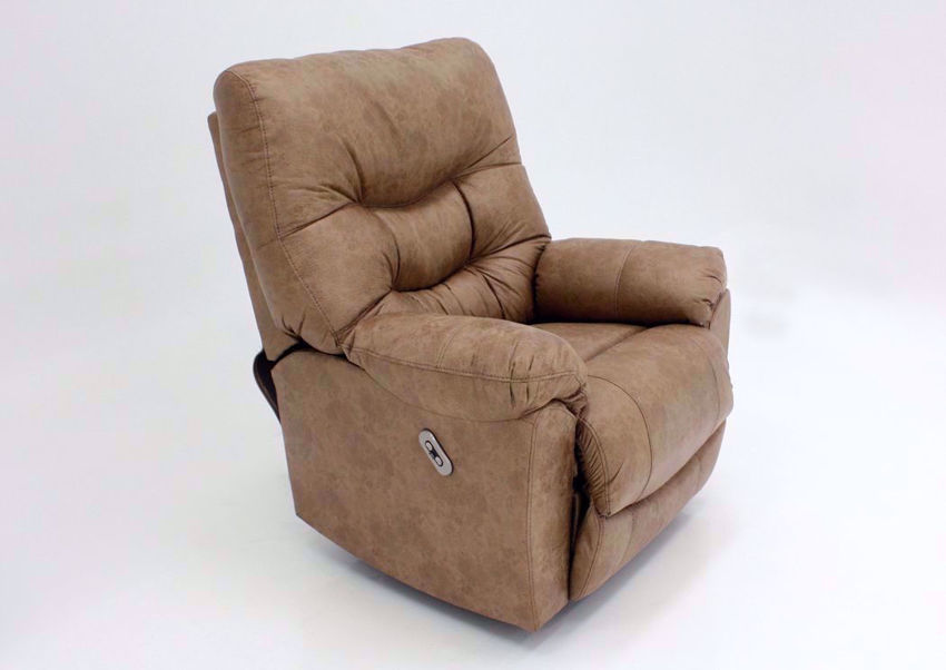 Light Brown Marshall POWER Rocker Recliner at an Angle | Home Furniture Plus Bedding