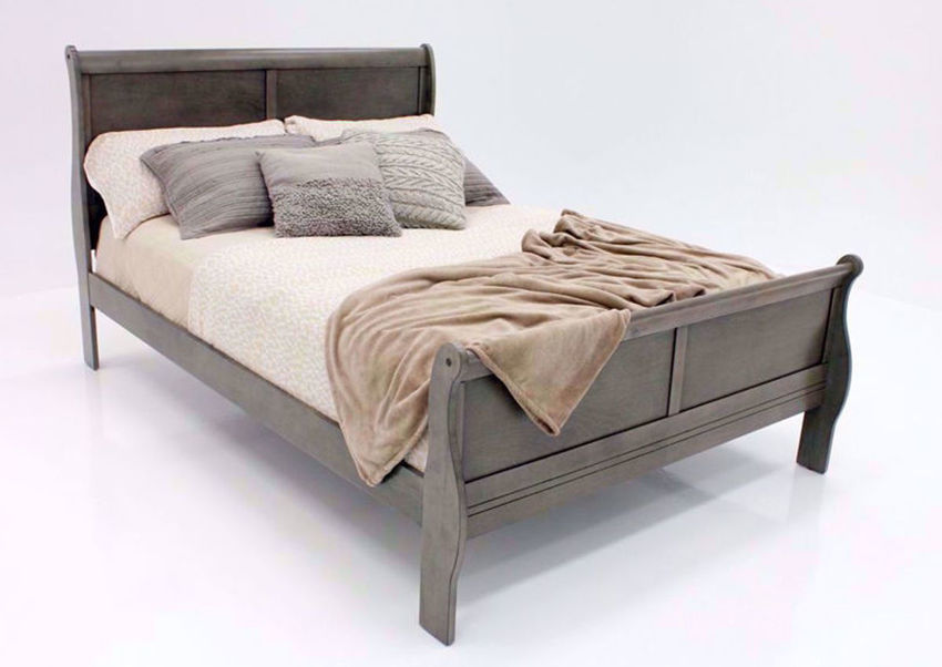 Picture of Louis Philippe King Size Bed - Gray